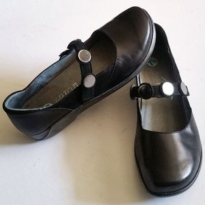 Naot Flats Velcro Strap with Mirrored Circles